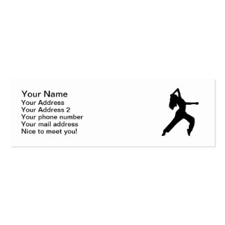 Freestyle dancing girl pack of skinny business cards