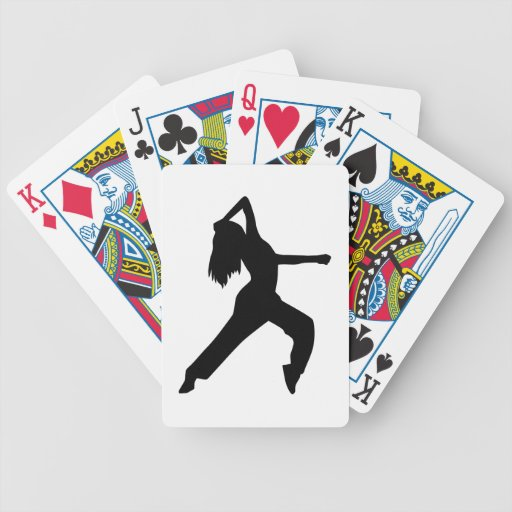 Freestyle dancing girl card deck