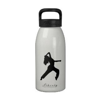 Freestyle dancing girl water bottles