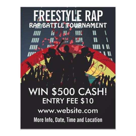 Freestyle Rap Battle Music Flyer