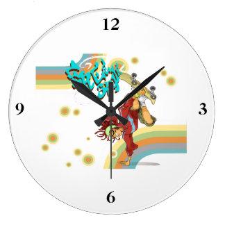 Freestyle Retro Skateboarder Wall Clocks