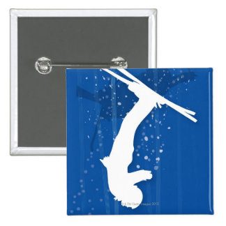 Freestyle Skier 15 Cm Square Badge