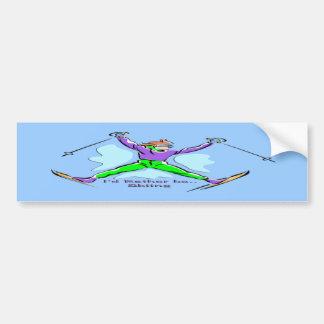 Freestyle Skier Bumper Sticker