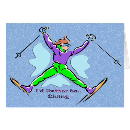 Freestyle Skier Greeting Card