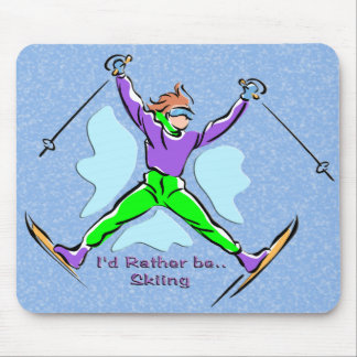 Freestyle Skier Mouse Mat