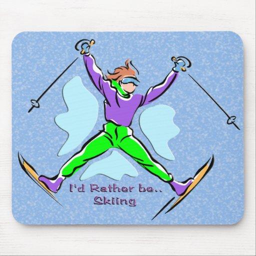 Freestyle Skier Mousepad