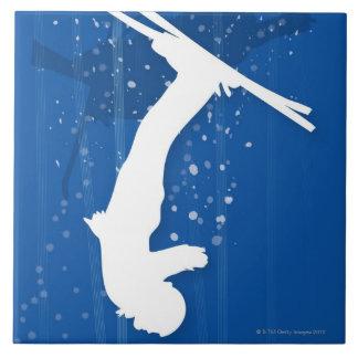 Freestyle Skier Tile