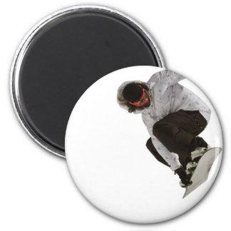 Freestyle snowboarder 6 cm round magnet