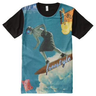 freestyle vintage All-Over print T-Shirt