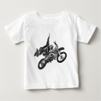 Freestyling with dirt bike baby T-Shirt