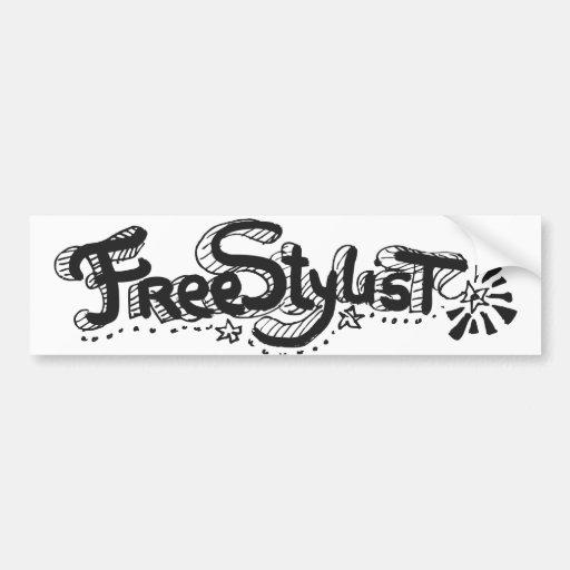Freestylist 1 bumper sticker