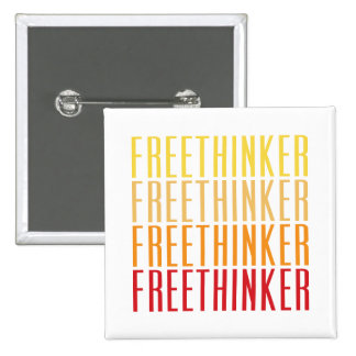 Freethinker 15 Cm Square Badge