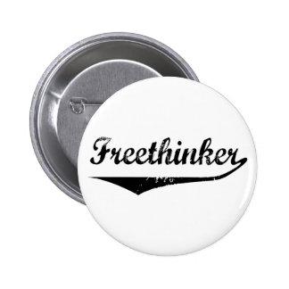 Freethinker 2 6 cm round badge