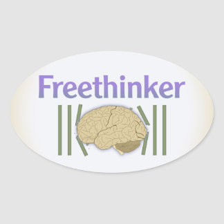Freethinker (with brain breaking free) Stickers