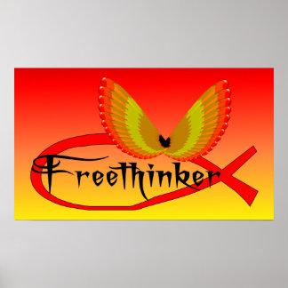 Freethinking Fish Symbol Poster