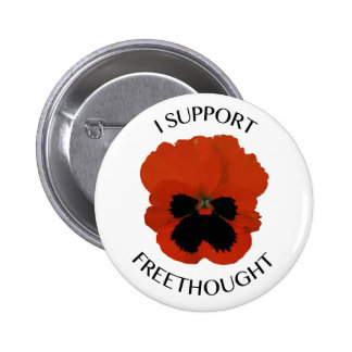 Freethought Viola Flower Button 2 Inch Round Button