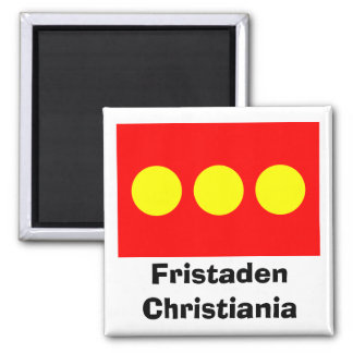 Freetown Christiania Flag Square Magnet