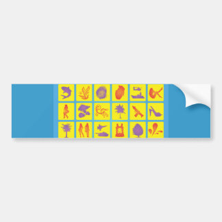 FreeVector-Footage Digital assortment collection Bumper Sticker