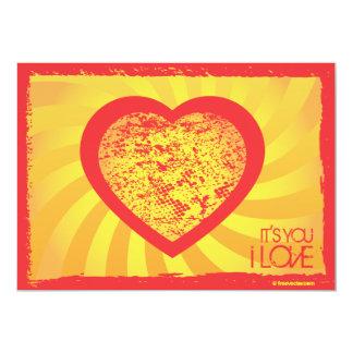 "FreeVector-Grunge-Heart.ai 5"" X 7"" Invitation Card"