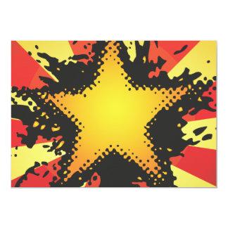 FreeVector-Grunge-Star.ai 13 Cm X 18 Cm Invitation Card