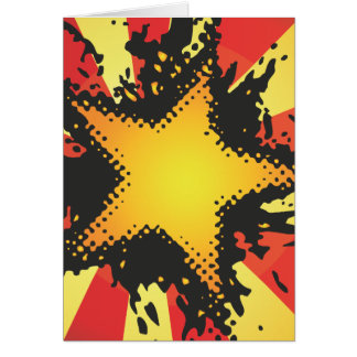 FreeVector-Grunge-Star.ai Greeting Card