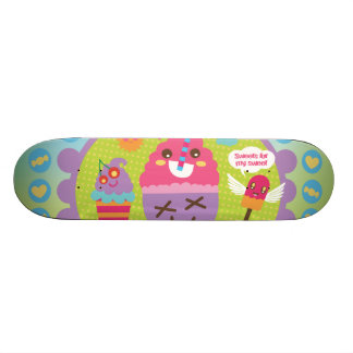 FreeVector-Ice-Cream-Cartoons cute kawaii graphics 20.6 Cm Skateboard Deck