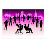 FreeVector-Working-People business office Postcard
