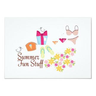 "FreeVectorSummerFunStuff SUMMER FUN BIKINI BEACH O 3.5"" X 5"" Invitation Card"