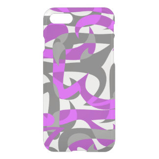 Freeway Abstract Retro Psychedelic - Violet iPhone 7 Case