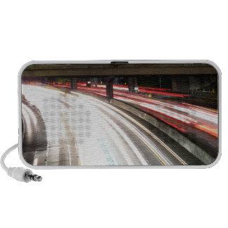 Freeway At Night Portable Speaker