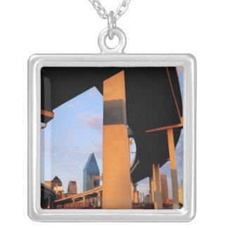 Freeway Overpass in Dallas 2 Silver Plated Necklace