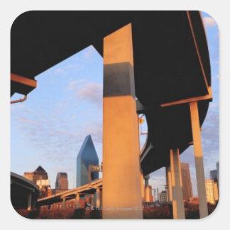 Freeway Overpass in Dallas 2 Square Sticker