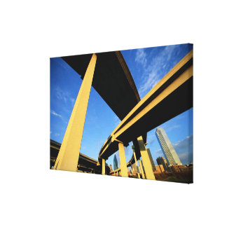 Freeway Overpass in Dallas Canvas Print