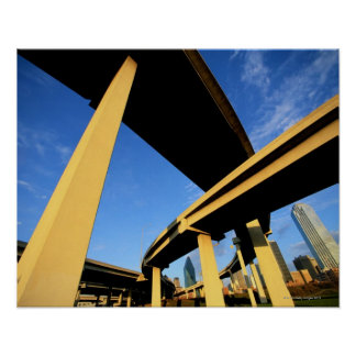 Freeway Overpass in Dallas Poster