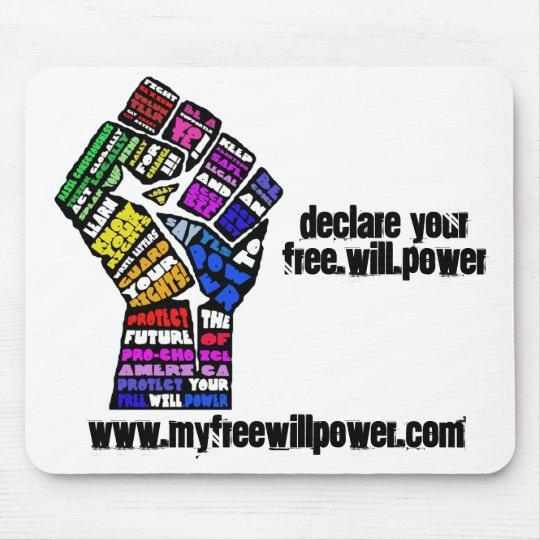freewillpower: mousepad