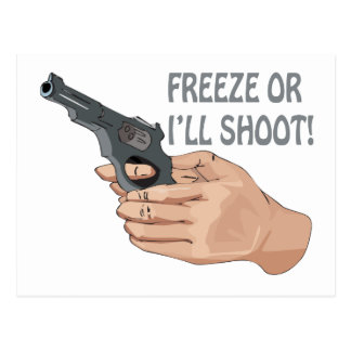 Freeze Or Ill Shoot Postcard