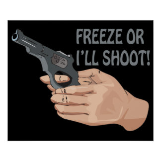 Freeze Or Ill Shoot Poster