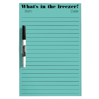Freezer Items Dry Erase Board