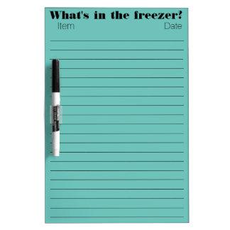 Freezer Items Dry Erase Whiteboards