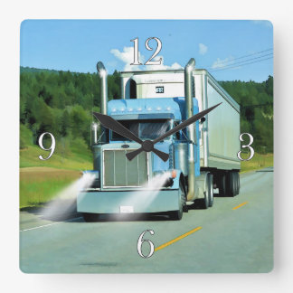 Freezer Truck Lorry-Drivers Wall Clock