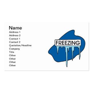 Freezing Business Card