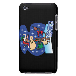 freezing my nipples off funny xmas cow iPod touch Case-Mate case
