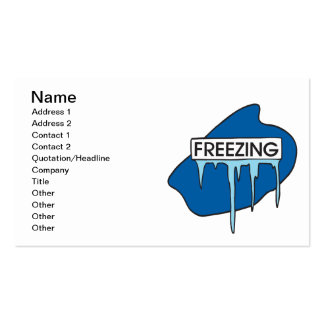 Freezing Pack Of Standard Business Cards