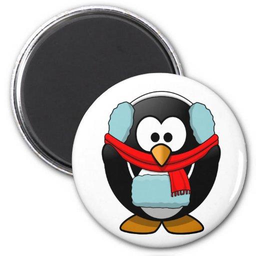 Freezing penguin magnet magnet