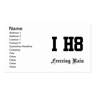 freezing rain pack of standard business cards