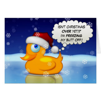 Freezing Santa Duck Card