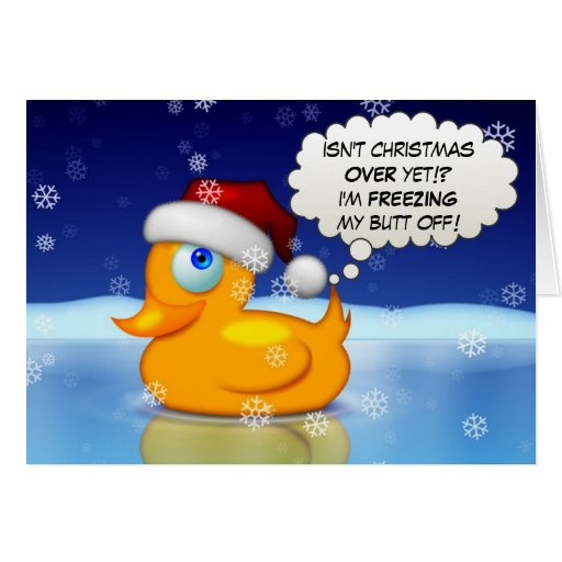 Freezing Santa Duck Cards