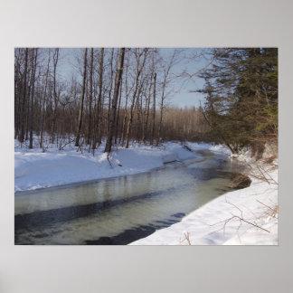Freezing Stream Posters