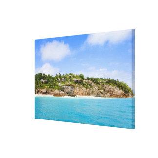 Fregate Island resort (PR) Stretched Canvas Print