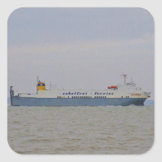 Freight Ferry Victorine Square Sticker